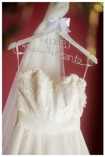 Diamante Coat Hanger With Wedding Date