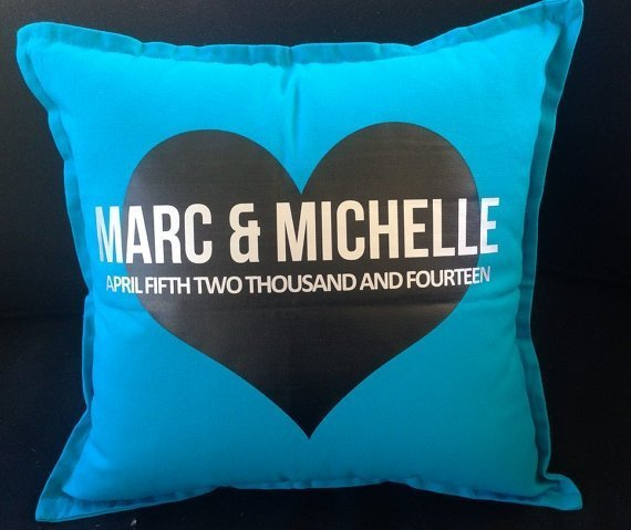 Personalised Wedding Couple Cushions