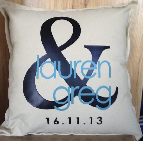 Personalised Wedding Cushions - Style 1