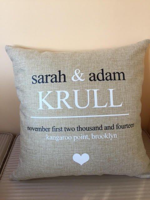 Personalised Wedding Cushions - Style 2