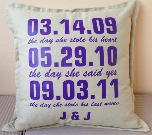 Personalised Wedding Date Cushions