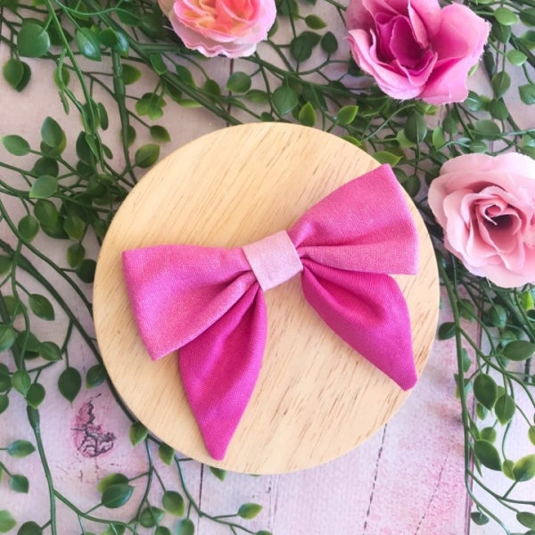 Pink Ombre Girls Hair Bow Clip or Headband
