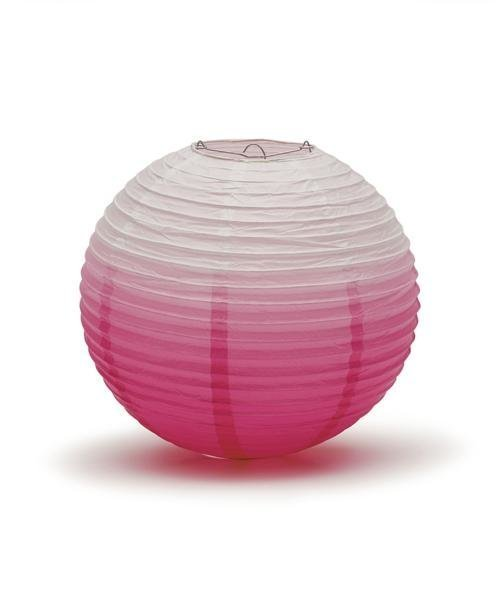 Pink Ombre Hanging Paper Lantern