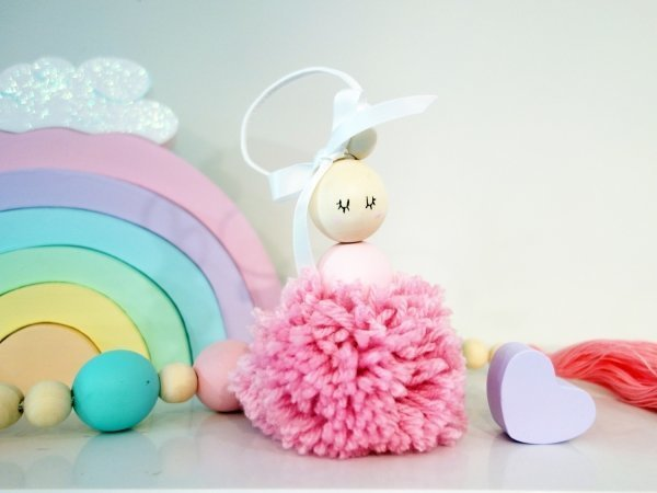 Pretty Hanging Ballerina Pom Pom Kids Room Decorations