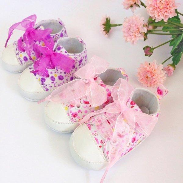 Pink Floral Baby Girl Pre-Walker Shoes
