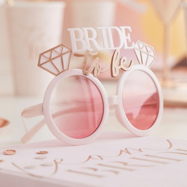 Pink & Rose Gold Bride To Be Hens Party Sunglasses