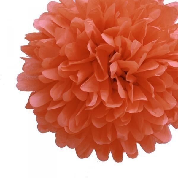 Poppy Tissue Pom Poms - Pack of 4
