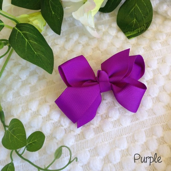 Assorted Grosgrain Ribbon Bows - 17 colours