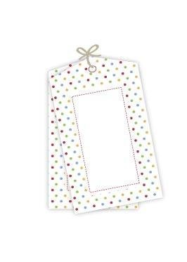 Rainbow Polkadot Party Gift Tags - Pack of 12
