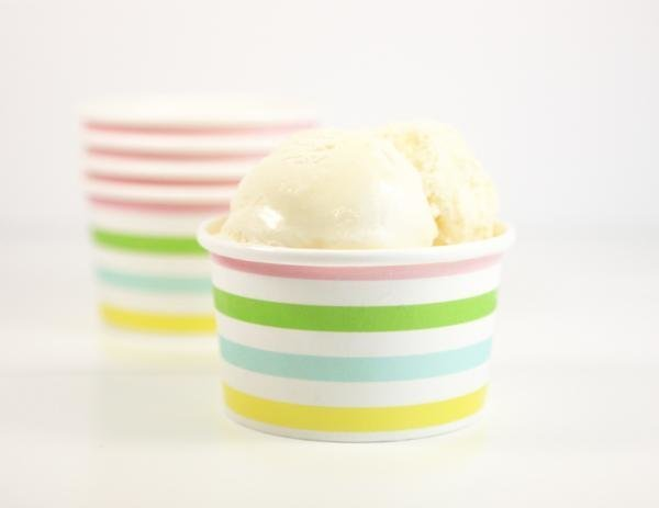 Rainbow Stripe Ice-cream Cups - Pack of 12