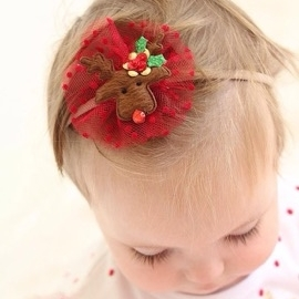 Furry Christmas Reindeer Girls Hair Accessories