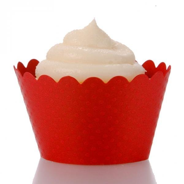Red Cupcake Wrappers - Pack of 12