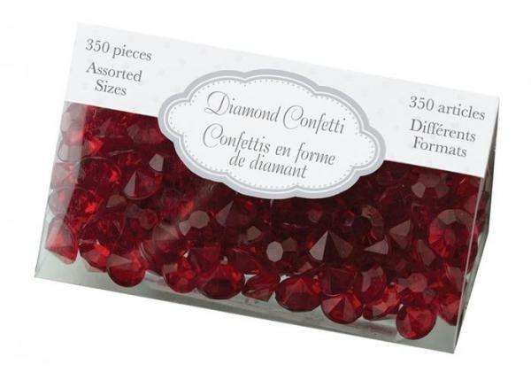 Red Diamond Confetti