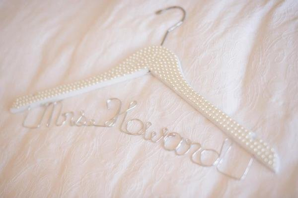 Gorgeous Pearl Encrusted Coat Hanger