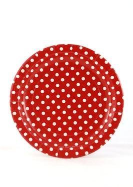 Red Polkadot Plates - Pack of 12