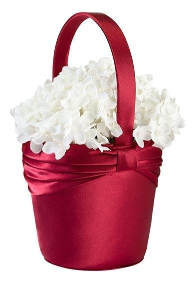 Red Sash Flower Basket