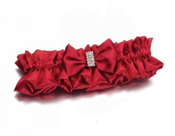 Diamond Red Bridal Garter