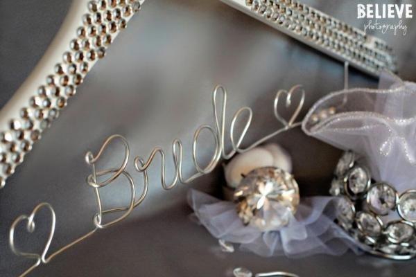 Gorgeous Rhinestone Covered Bridal Coat Hanger