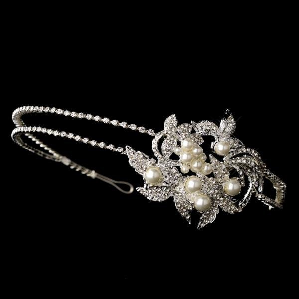 Rhinestone & Pearl Side Accented Headband