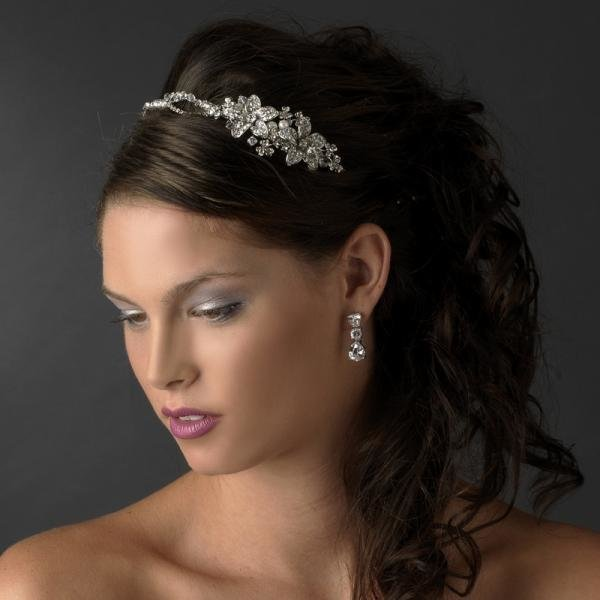 Rhodium Ivory Headpiece