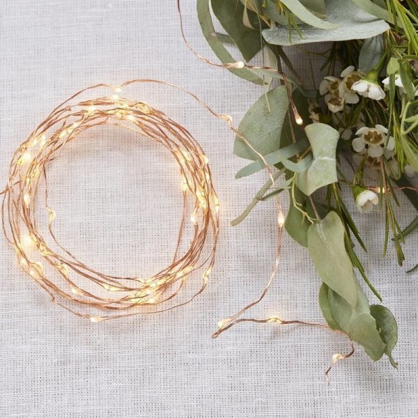 Rose Gold LED String Fairy Lights