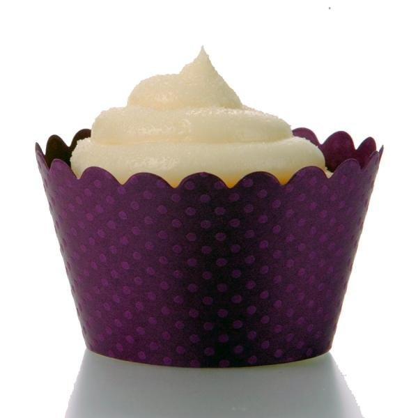 Royal Purple Cupcake Wrappers - Pack of 12