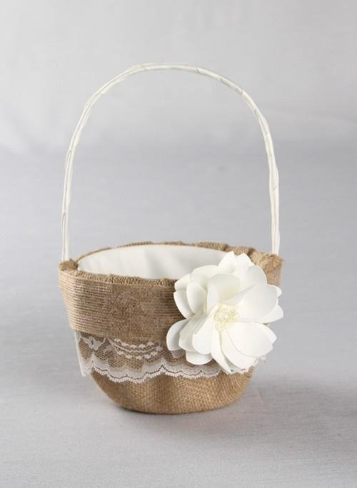 Wedding Flower Girl Basket Flower Girl Baskets Weddings How