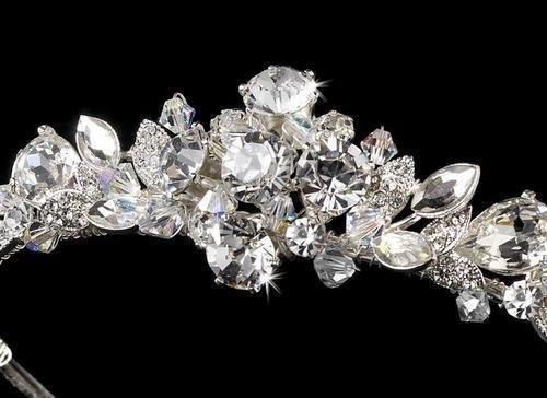 Silver AB Bridal Headband