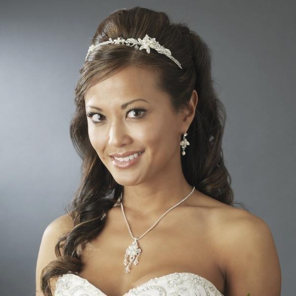 Silver & Ivory Bridal Headband