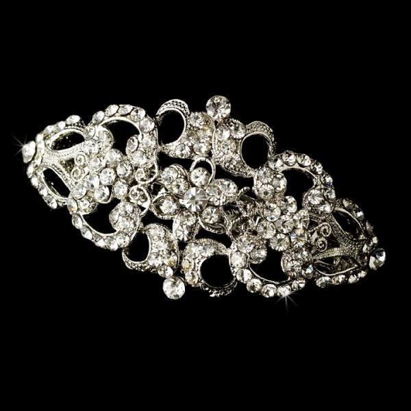 Silver Barrette Hair Piece