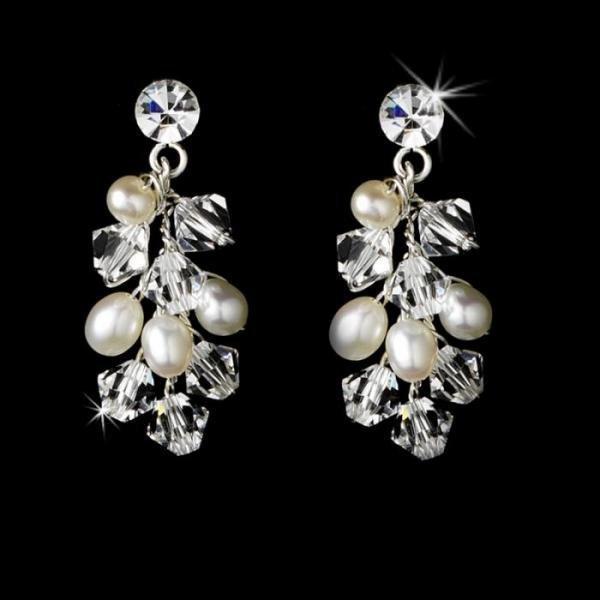 Silver Swarovski Crystal & Freshwater Pearl Set