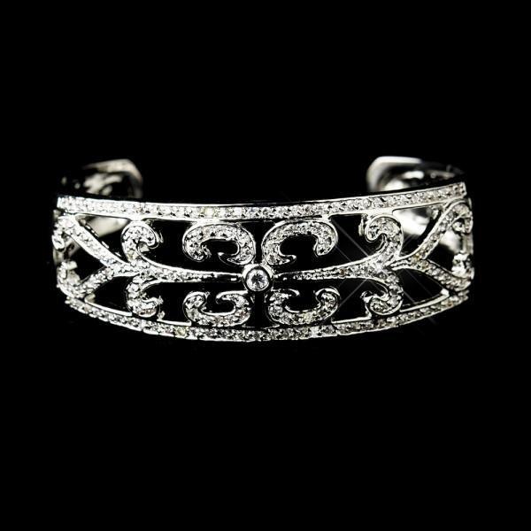 Silver CZ Cuff Bracelet