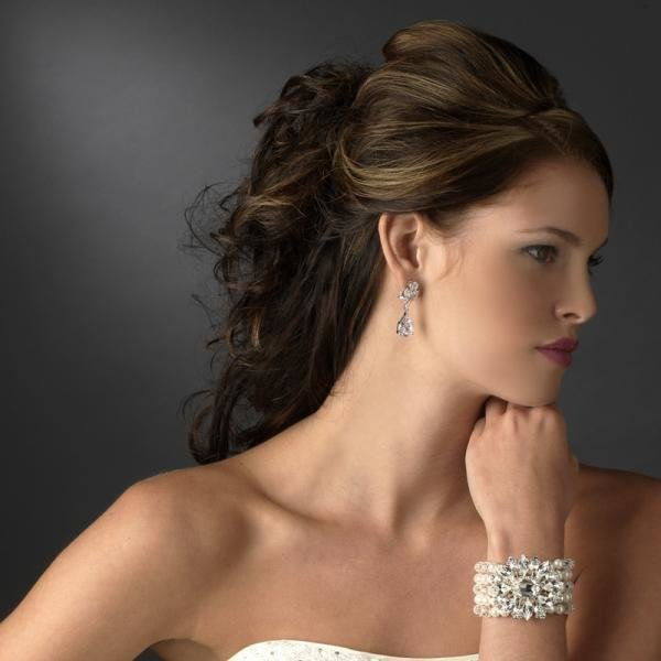 Silver Floral Pearl Bracelet