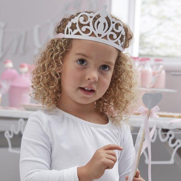 Silver Glitter Princess Tiaras
