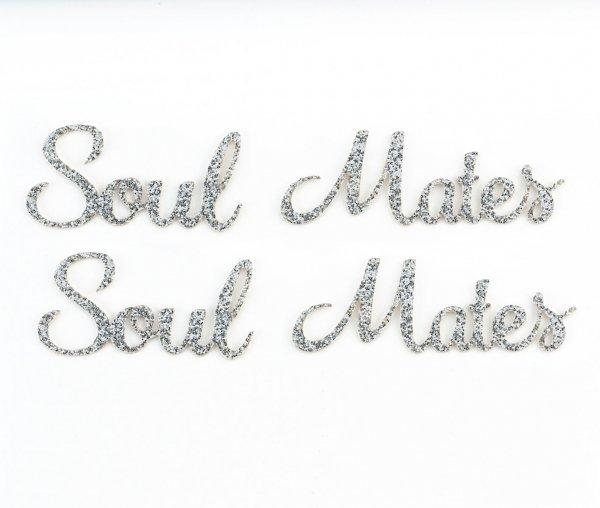 Soul Mates Silver Glitter Shoe Stickers