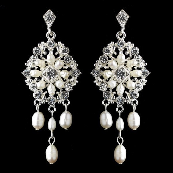 Silver Ivory Freshwater Pearl Chandelier Bridal Earrings Wedding Jewellery Accessories Weddings How Divine