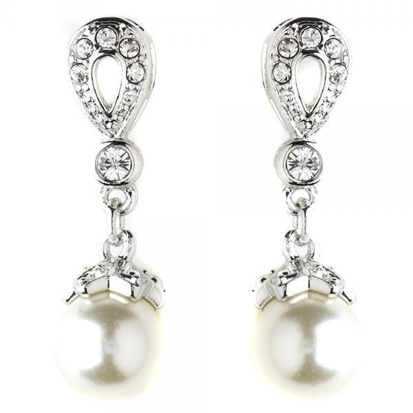 Ivory Pearl Drop Bridal Earrings