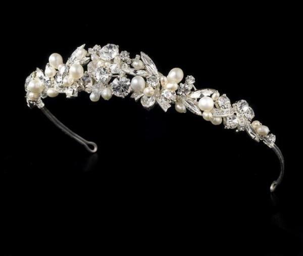 Silver & Ivory Pearl Headband