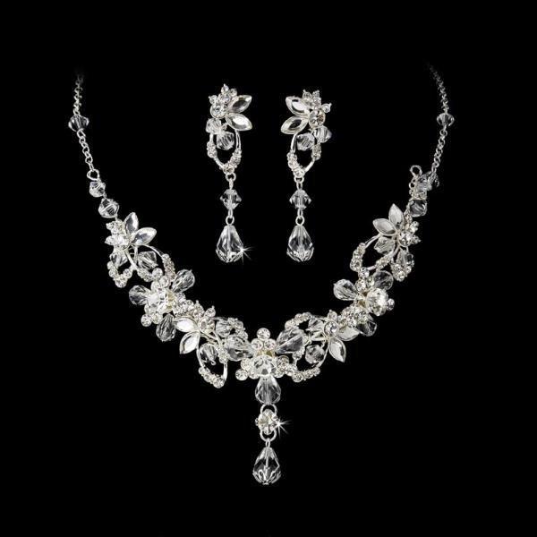 Silver Swarovski Necklace Set