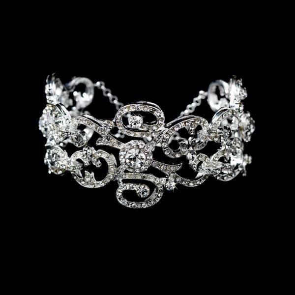 Stunning Crystal Swirl Bracelet