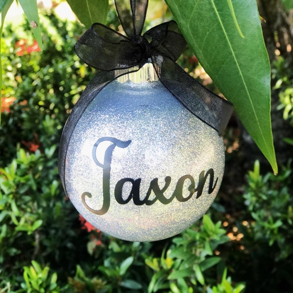 Simple Personalised Christmas Bauble Keepsake