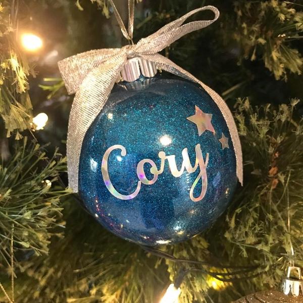 Simple Personalised Christmas Bauble Keepsake