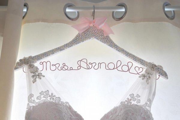 Sparkling Crystal & Pearl Encrusted Wedding Coat Hanger