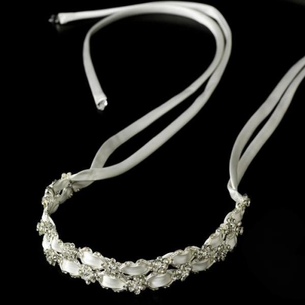Stunning Crystal Flower Accent Bridal Headband