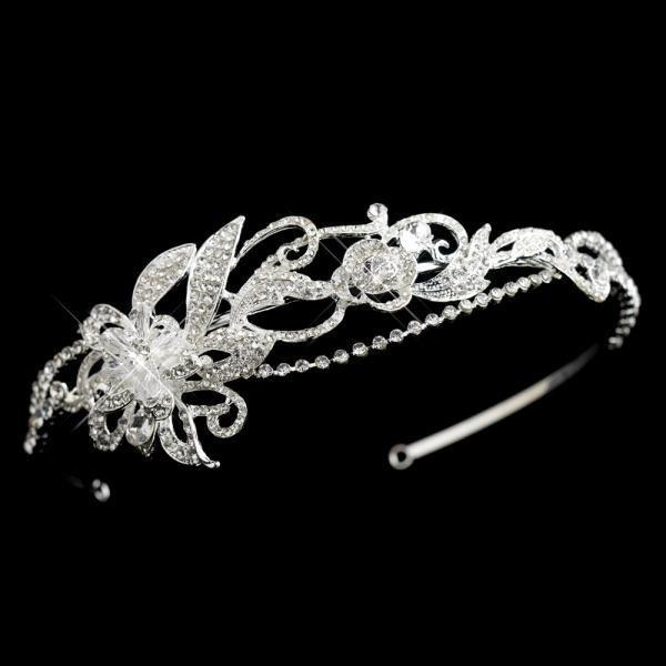 Swarovski Crystal Floral Bridal Headband
