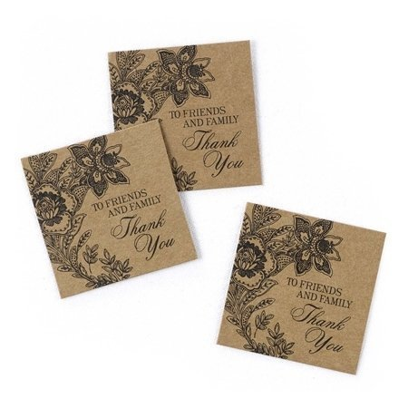 Vintage Floral Kraft Favour Cards