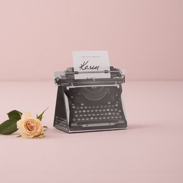 Vintage Inspired Typewriter Favour Box Kit
