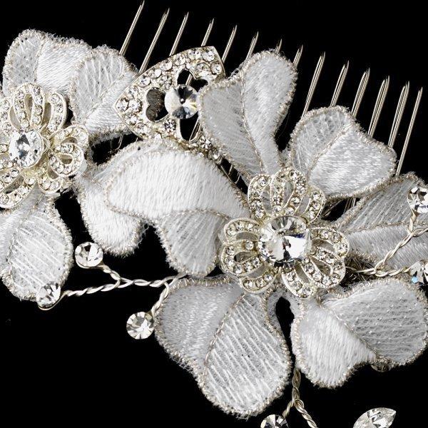 Vintage Romance Floral Bridal Comb
