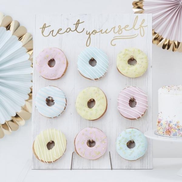 White Donut Wall Board - Unique Cake Alternative