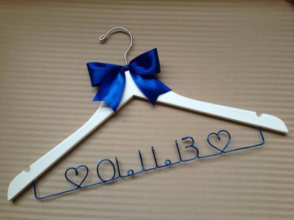 Wedding Date Coat Hanger With Bow Decoration